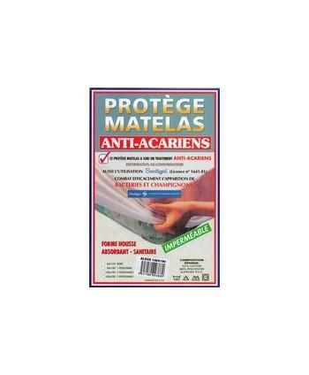 Protège matelas plastifié forme housse PVC 60 x 120 cm