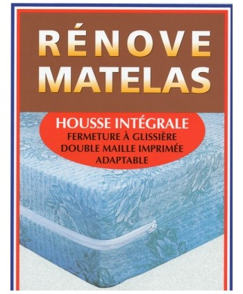 Rénove matelas forme housse intégrale 160 x 200 cm