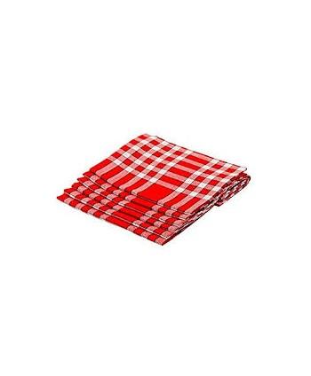 Douzaine de serviettes de table carreaux normands 45 x 45 cm