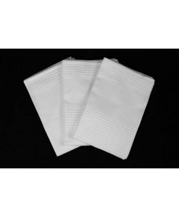 Torchon uni blanc gaufré sans impression 48 x 70 cm