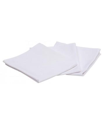 Torchon uni blanc sans impression 48 x 78 cm