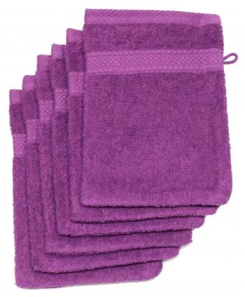6 gants 16 x 21 cm 500 gr/m² violet
