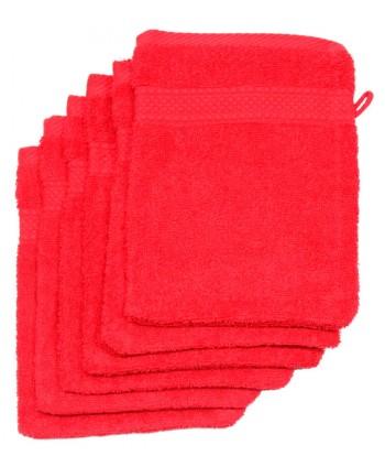 6 gants 16 x 21 cm 500 gr/m² rouge
