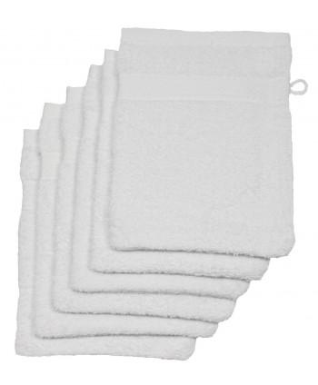 6 gants 16 x 21 cm 500 gr/m² blanc
