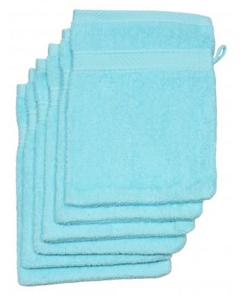 6 gants 16 x 21 cm 500 gr/m² turquoise