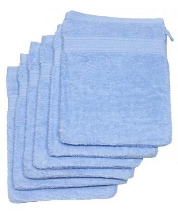 6 gants 16 x 21 cm 500 gr/m² bleu