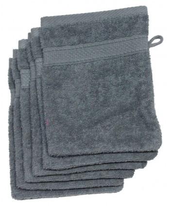 6 gants 16 x 21 cm 500 gr/m² gris pétrole