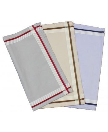 Mouchoirs couleurs 40 x 40 cm
