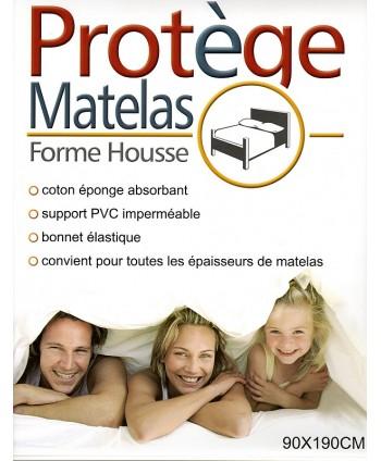 Protège matelas 90 x 190 cm PVC imperméable forme drap housse