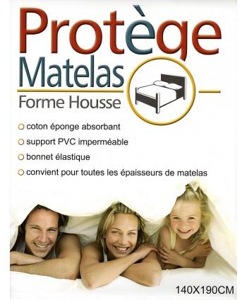 Protège matelas 140 x 190 cm PVC imperméable forme drap housse