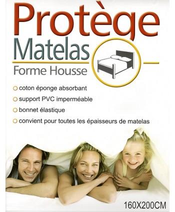 Protège matelas 160 x 200 cm PVC imperméable forme drap housse