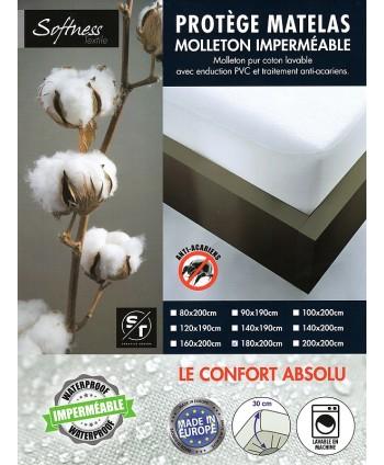 Protège matelas 180 x 200 cm PVC imperméable forme drap housse